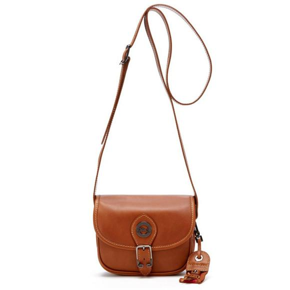8432c89e38f6 Longchamp Handbags - Longchamp Au Sultan Brown Leather Crossbody Bag